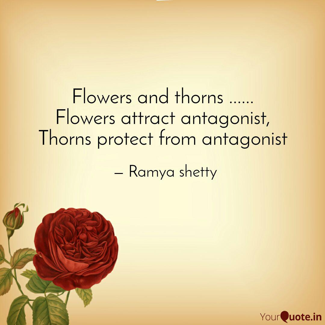 flowers and thorns quotes writings by ramya shetty