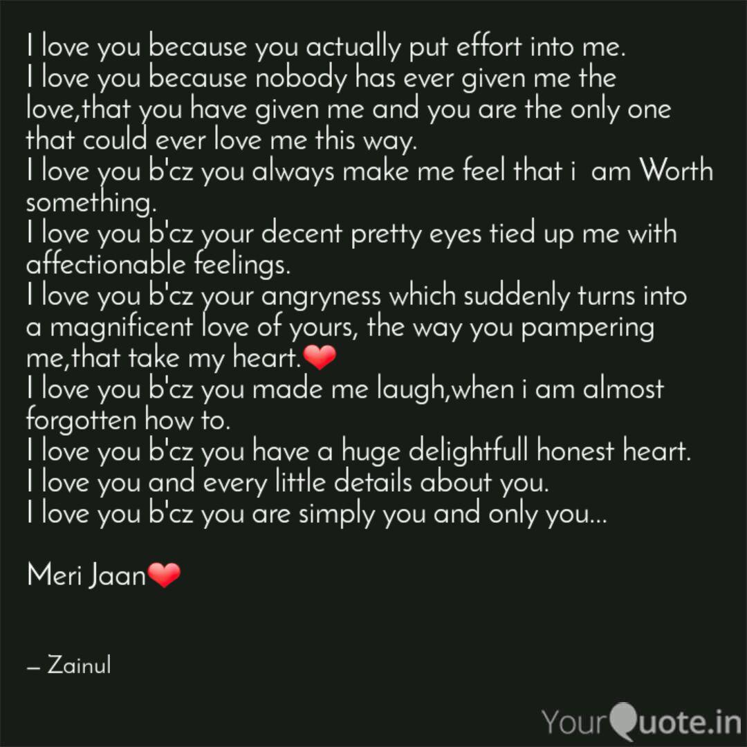I love you because you ac  Quotes & Writings by Md Zainul