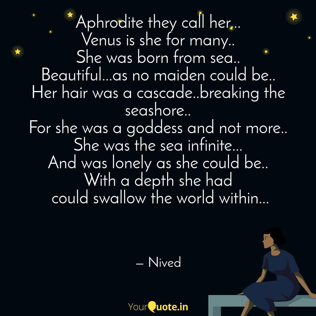 Aphrodite They Call Her Quotes Writings By