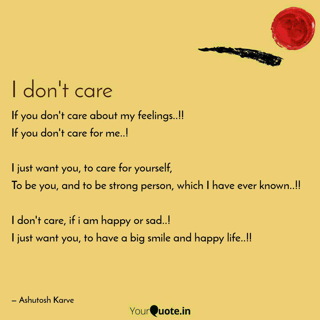 if you don t care about m quotes writings by ashutosh karve