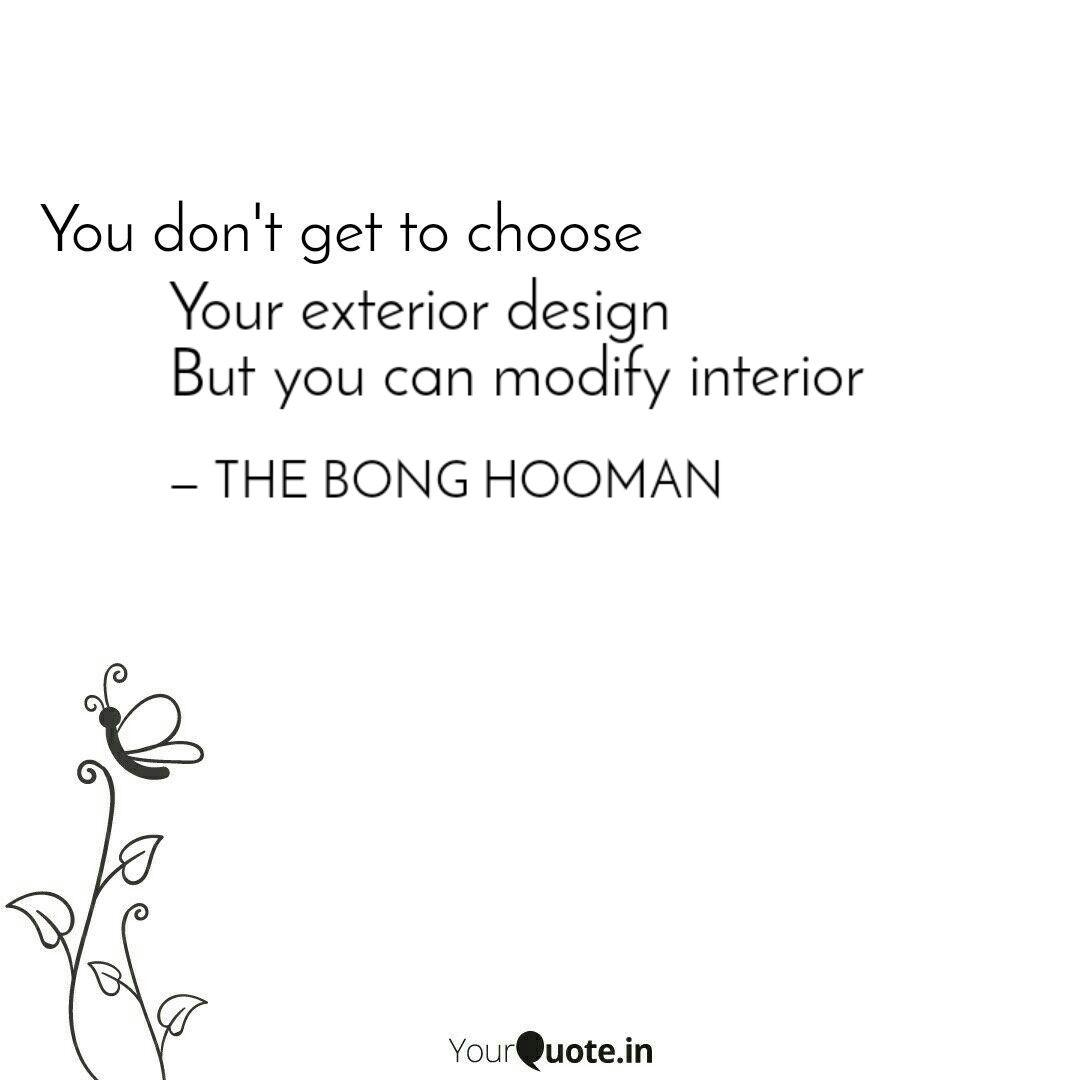 your exterior design but quotes writings by sammohan