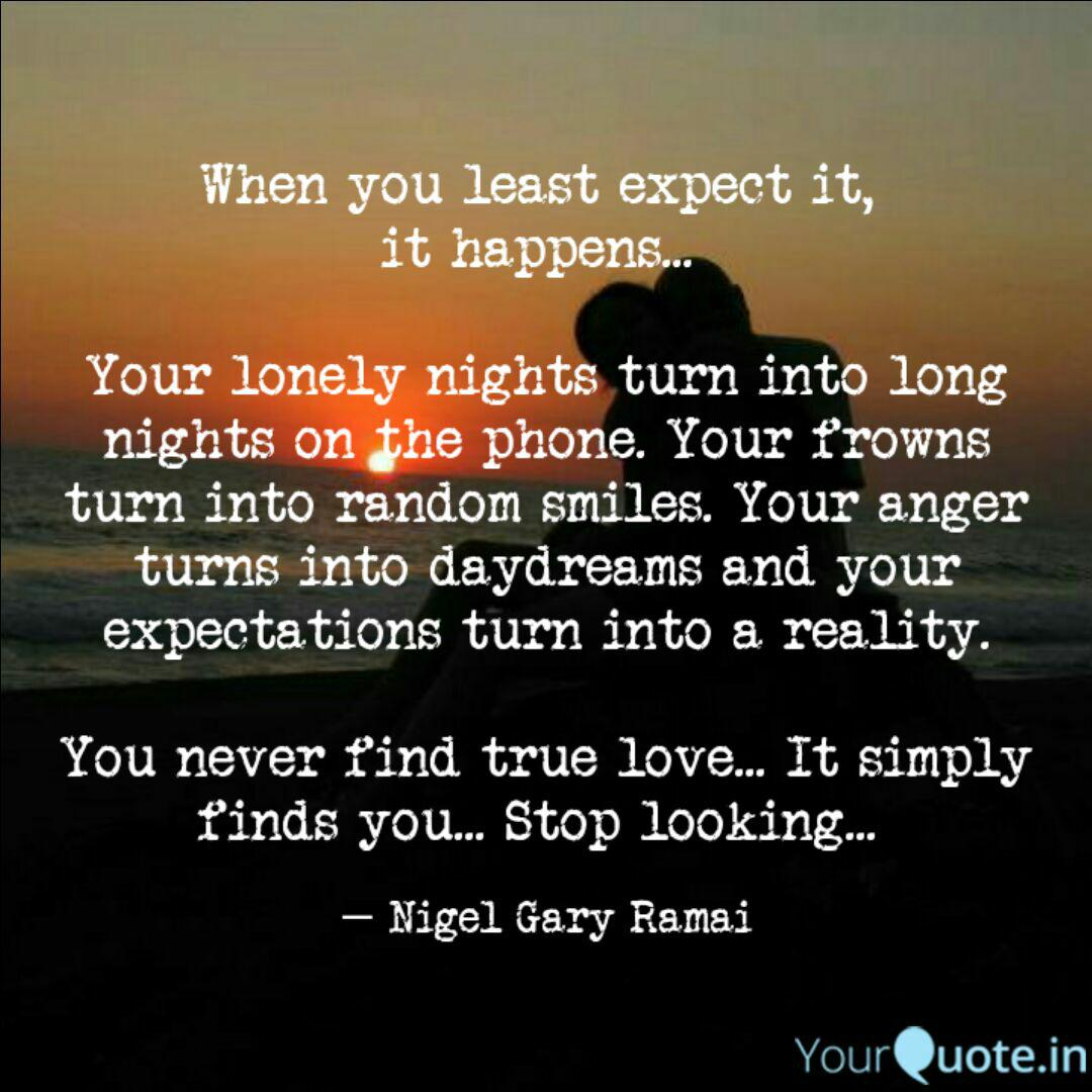 When you least expect it,... | Quotes & Writings by Nigel ...
