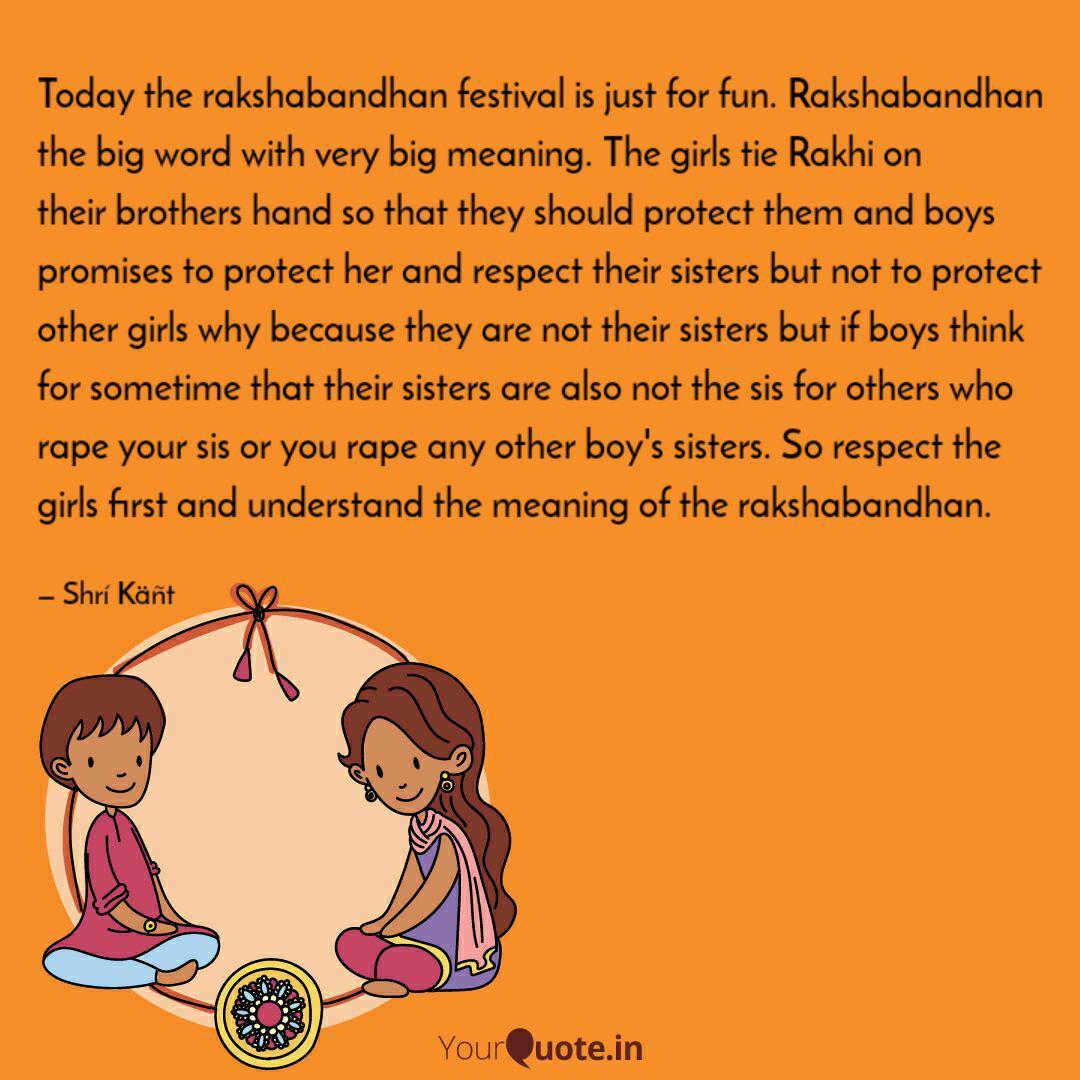 Today The Rakshabandhan F Quotes Writings By Shri