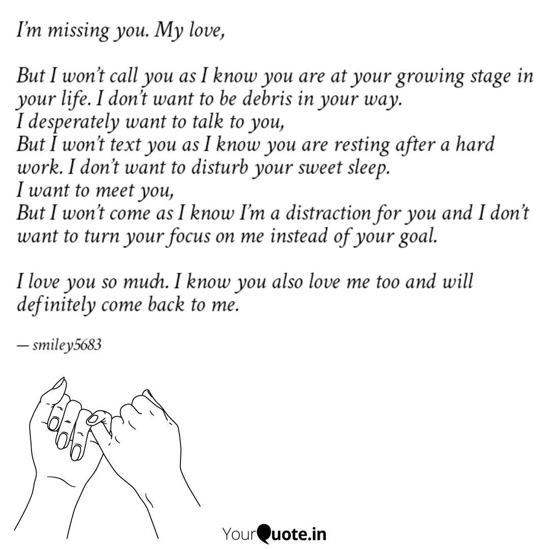 I\'m missing you. My love,... | Quotes & Writings by sonam ...