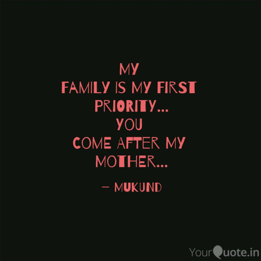 my family is my first p quotes writings by mukund singh