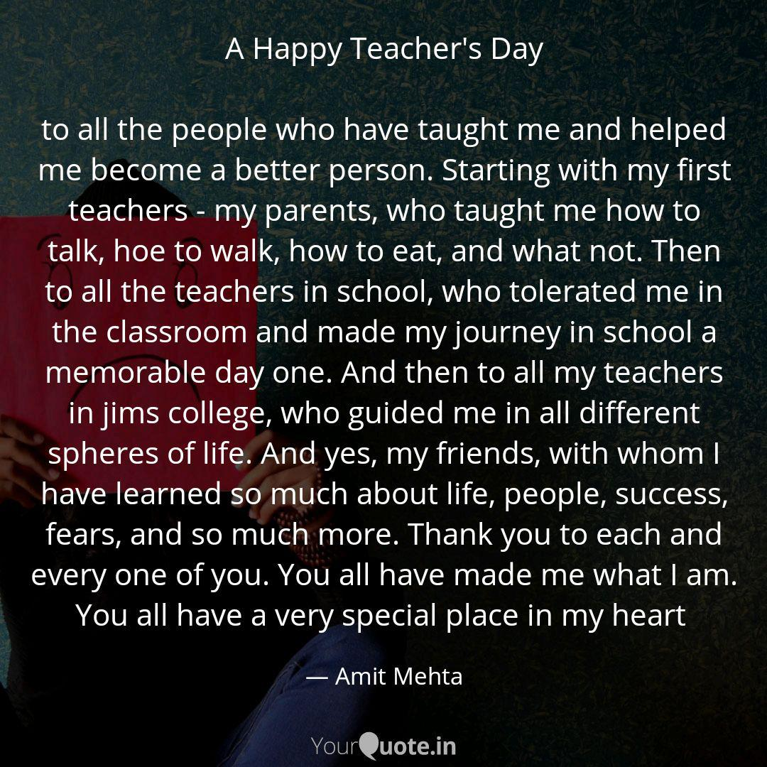 a happy teacher s day to quotes writings by amit mehta