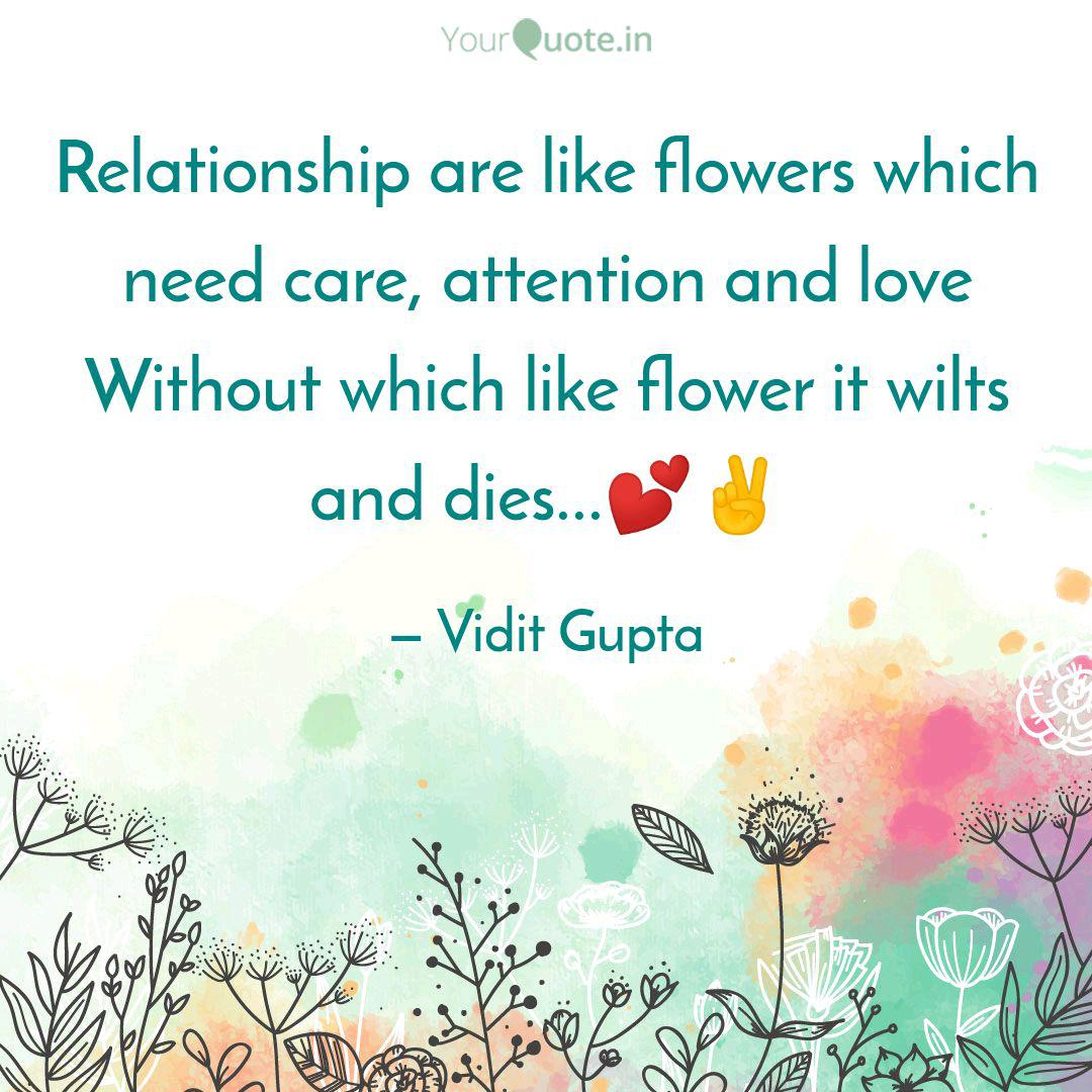 relationship are like flo quotes writings by vidit gupta