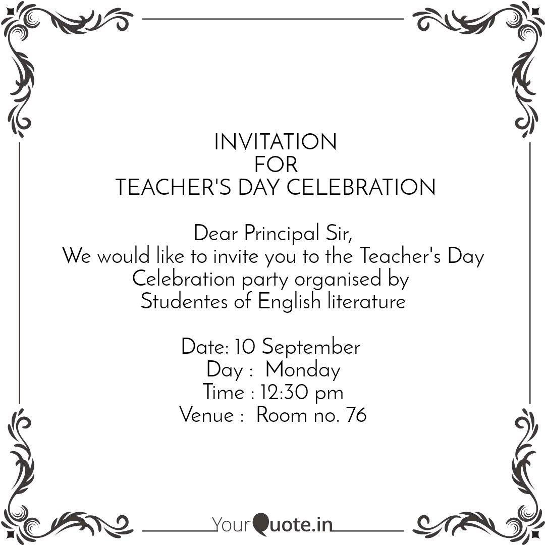 invitation for teacher quotes writings by shivanshi malviya