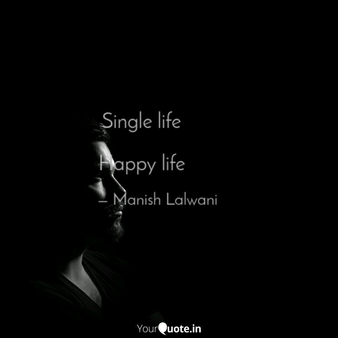 Quotes single life happy logo