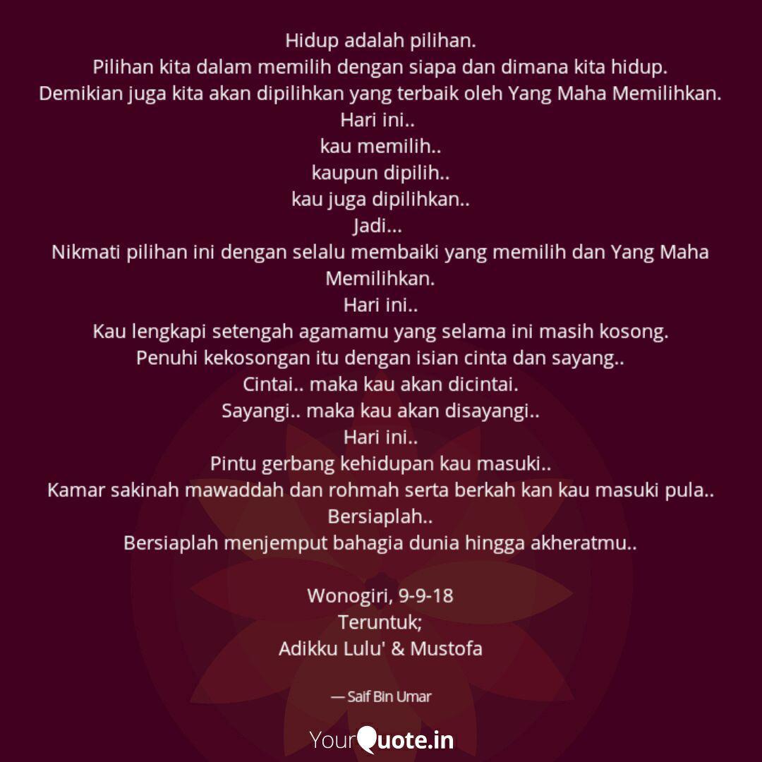 hidup adalah pilihan pil quotes writings by saif bin umar