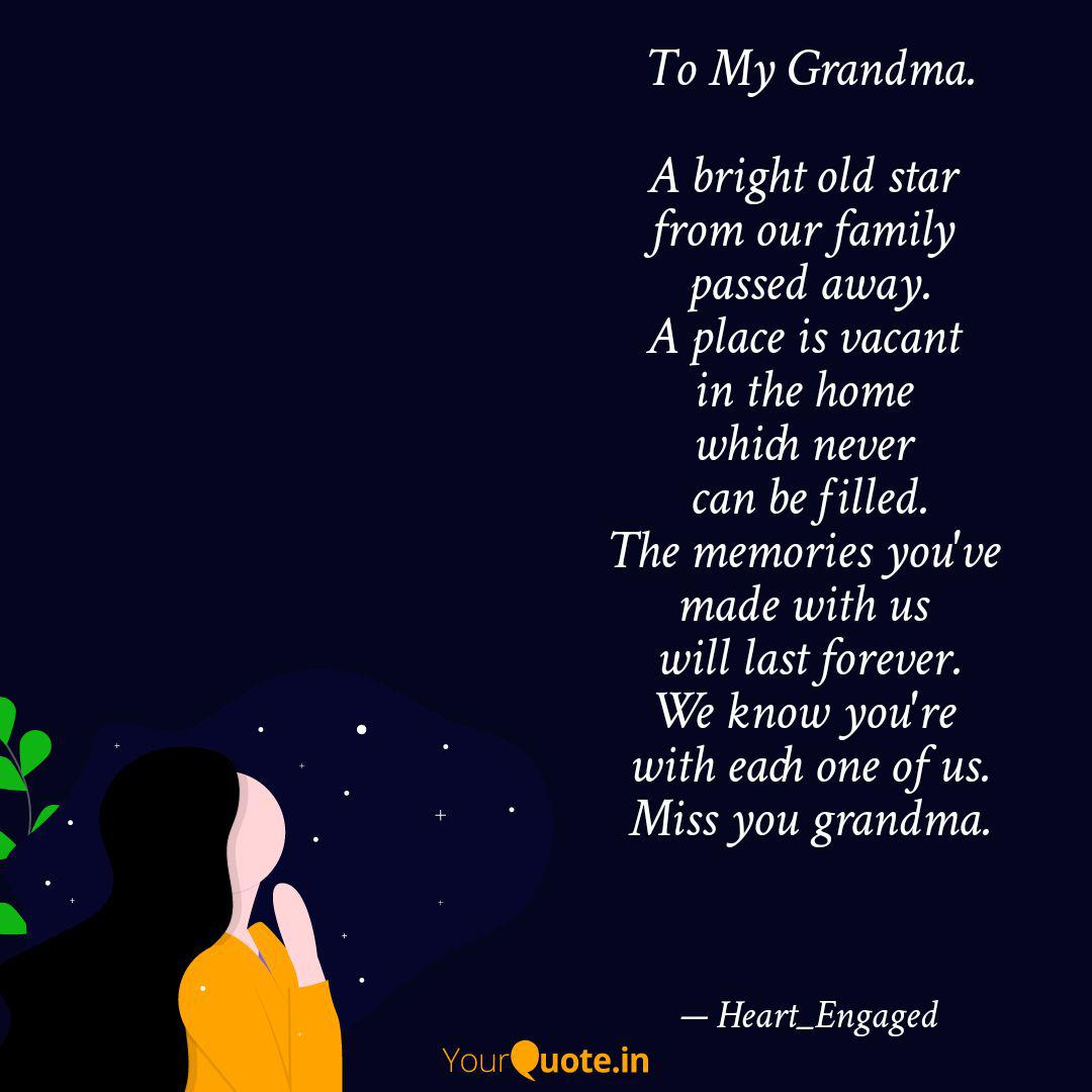 To My Grandma. A bright ... | Quotes & Writings by Tanvi ...
