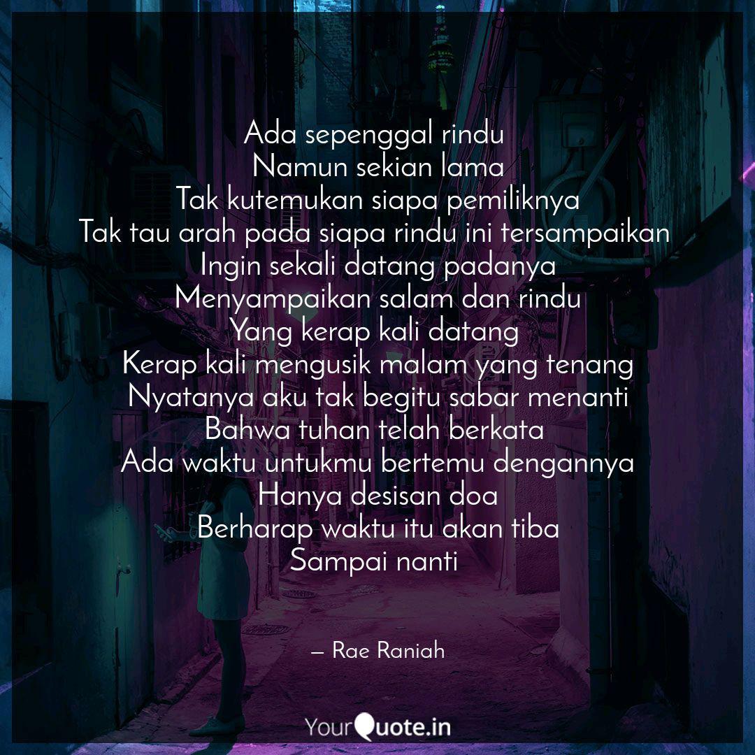 ada sepenggal rindu namu quotes writings by karimah irma