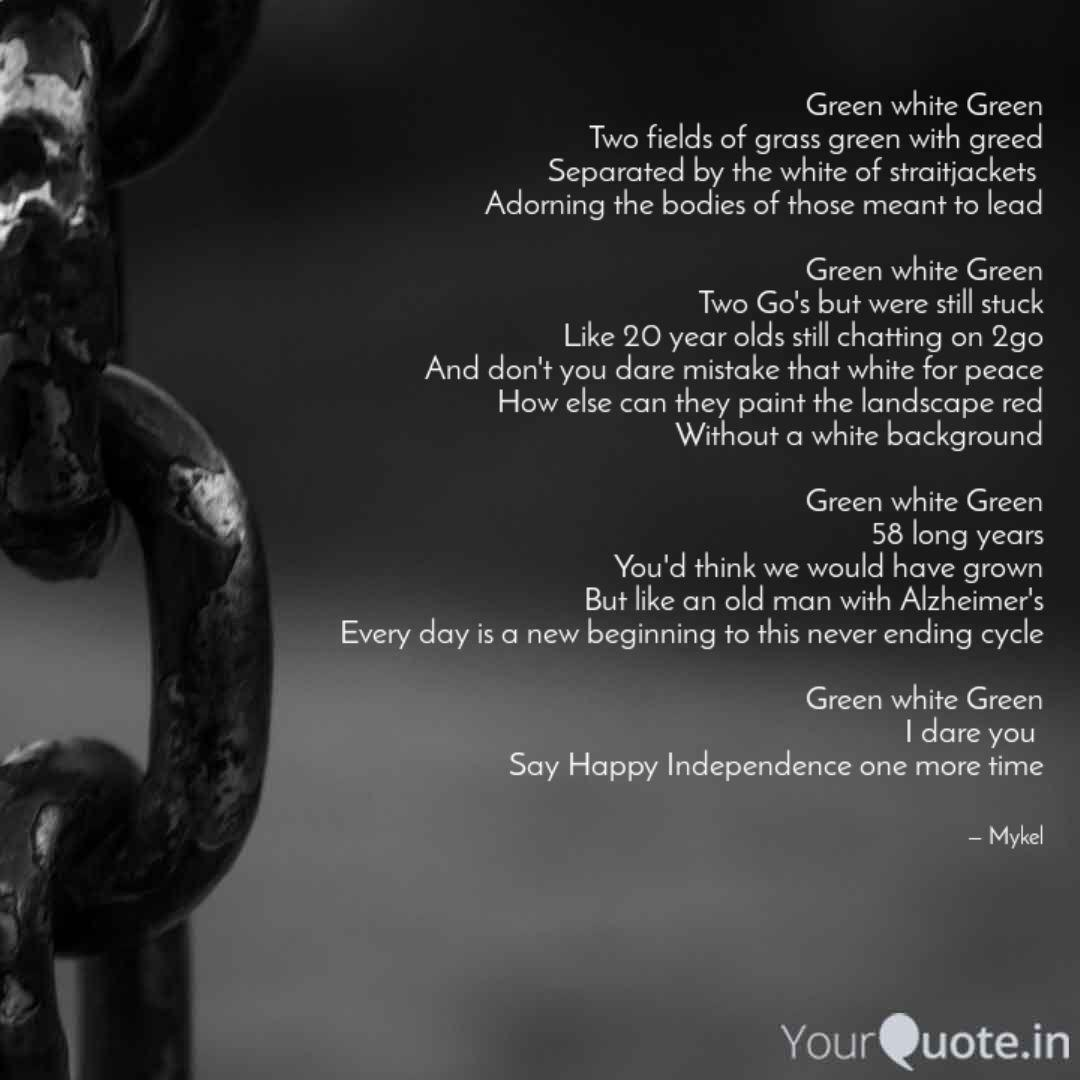 green white green two fie quotes writings by michael