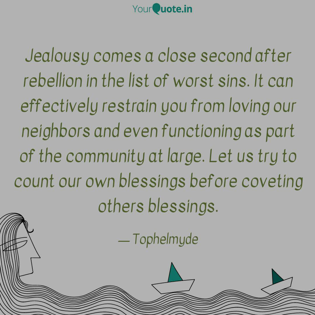 jealousy comes a close se quotes writings by adedokun tope