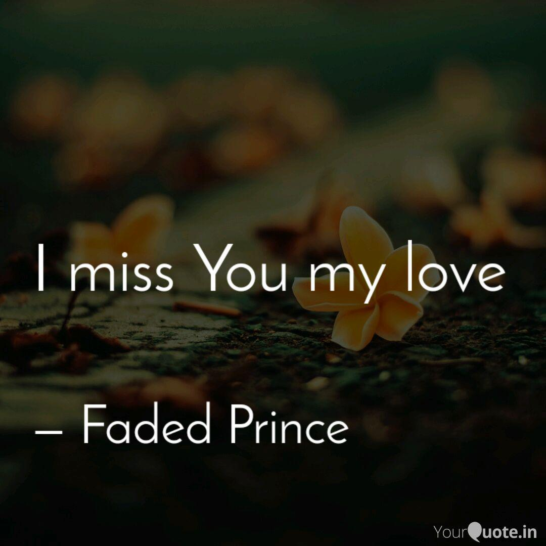 Miss you my love quotes