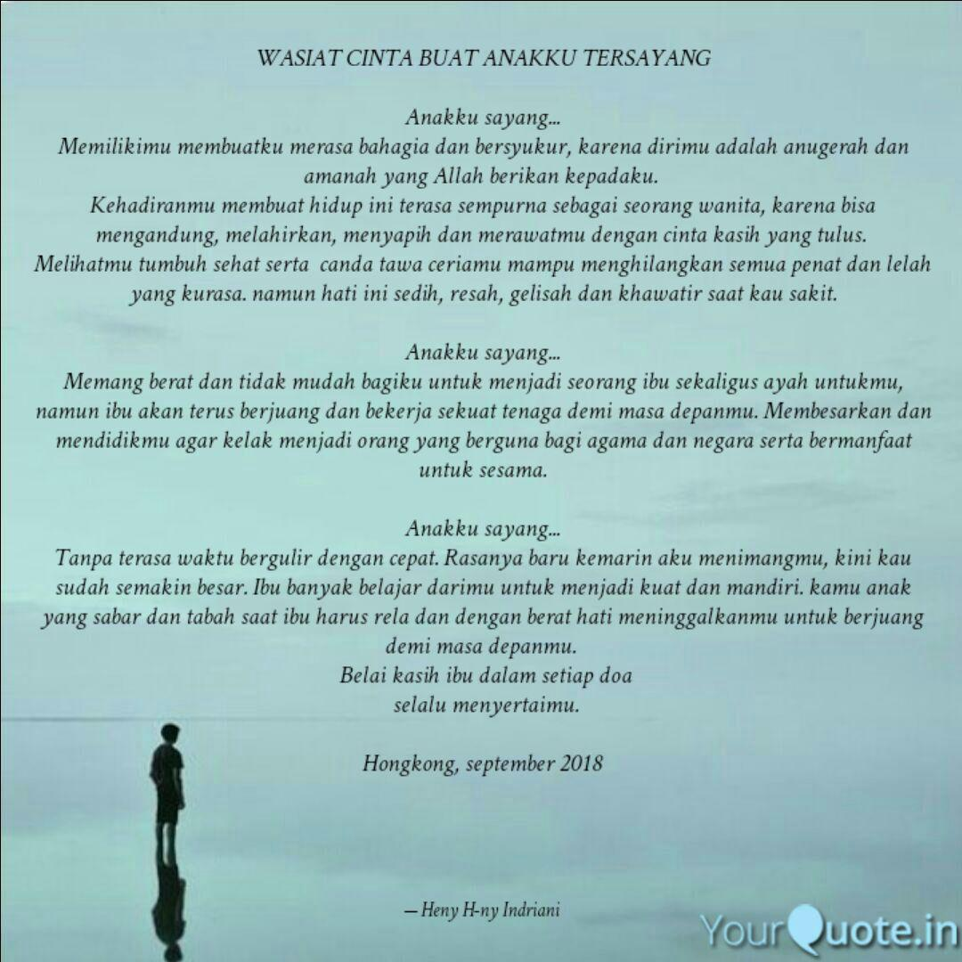 wasiat cinta buat anakku quotes writings by heny h ny