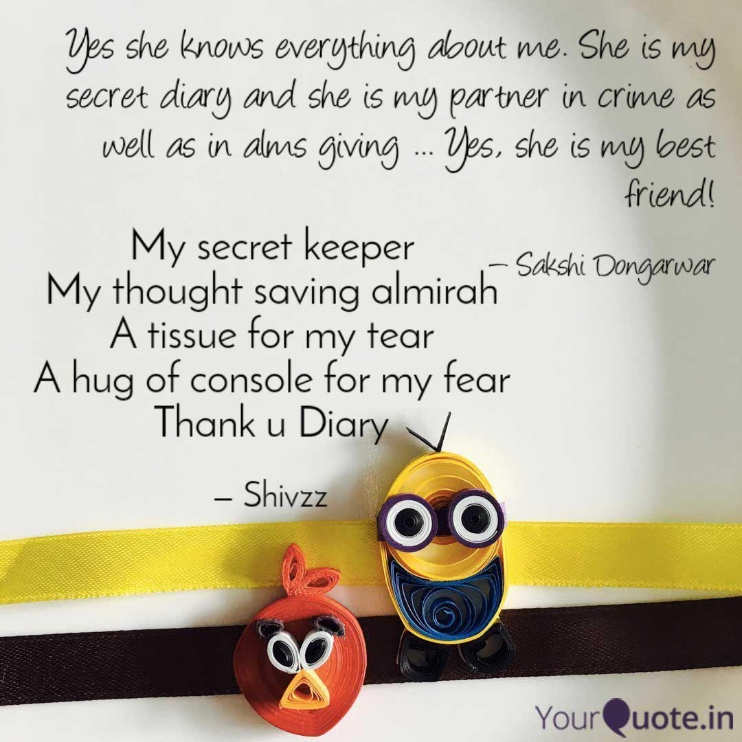 My secret keeper My thoug...   Quotes & Writings by Shivani Kale ...