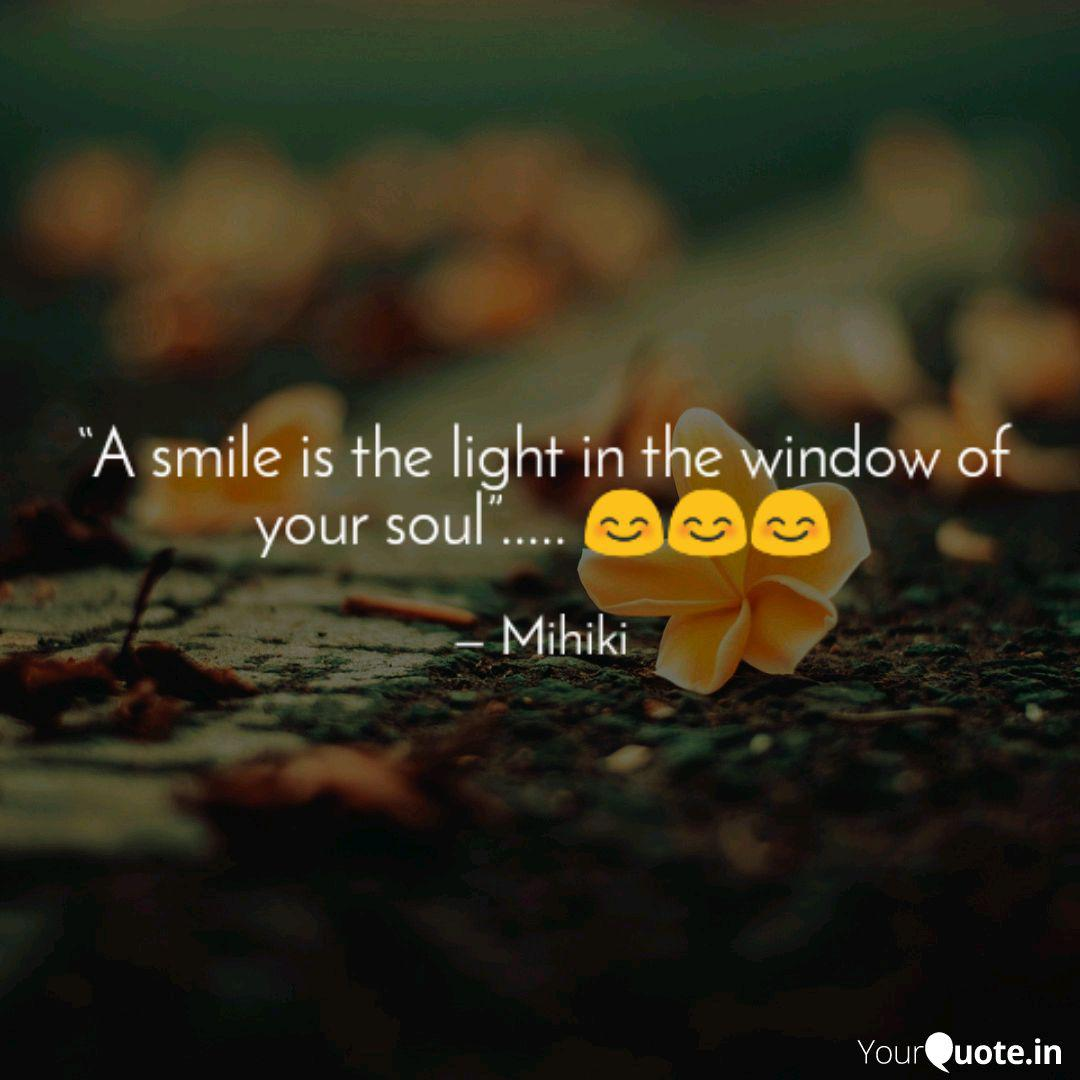 a smile is the light in quotes writings by rubi