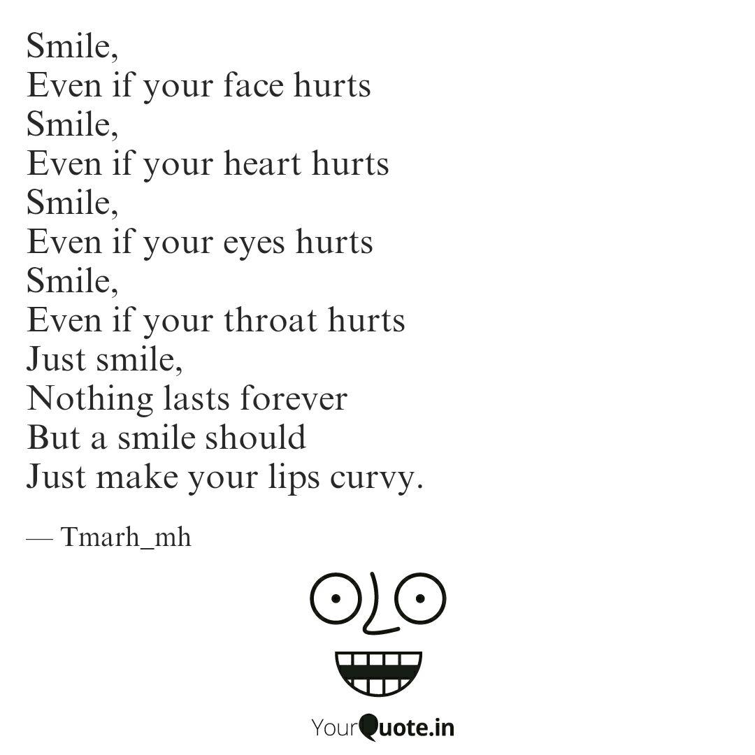 smile even if your face quotes writings by fatima m hassan