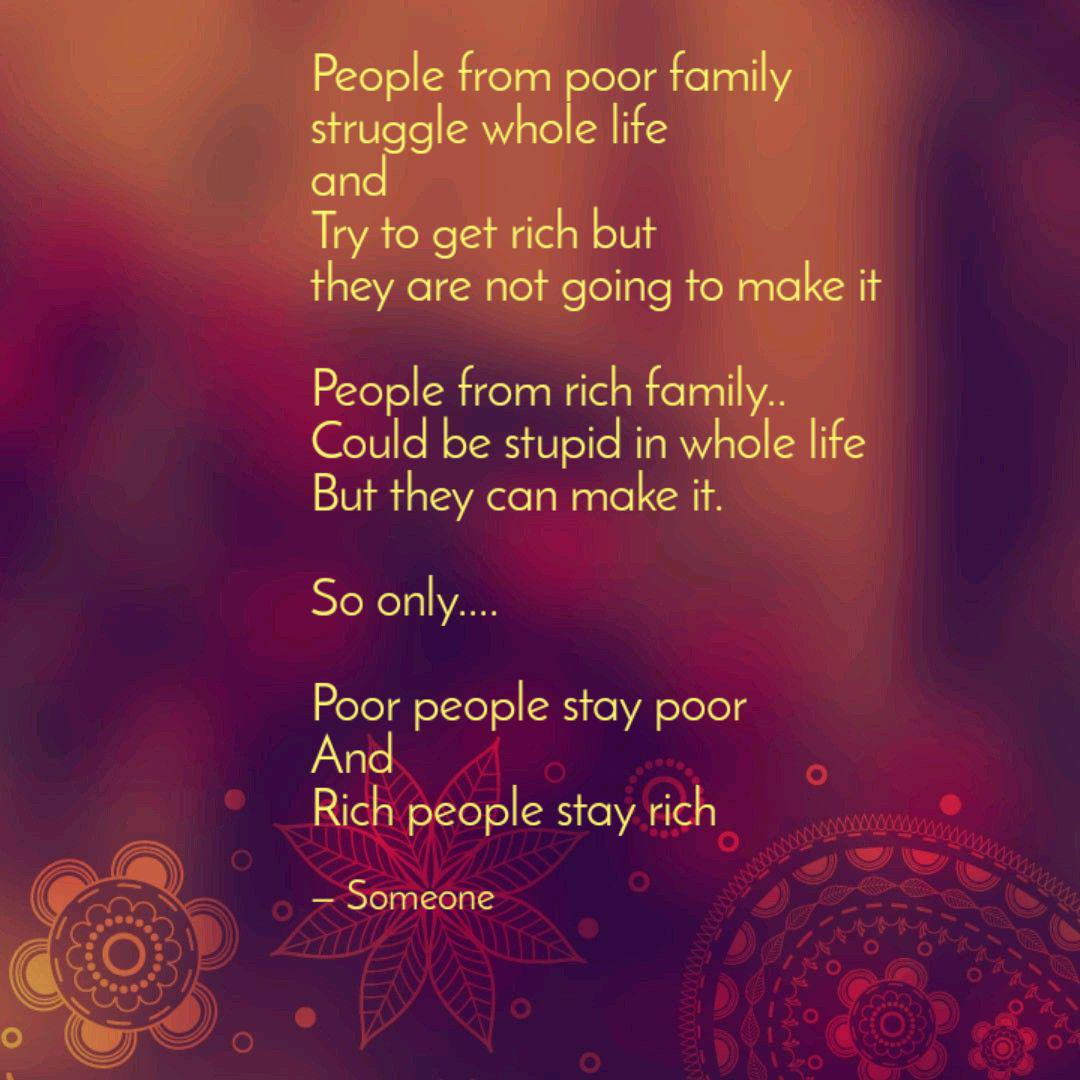 People from poor family s... | Quotes & Writings by Kabi D ...