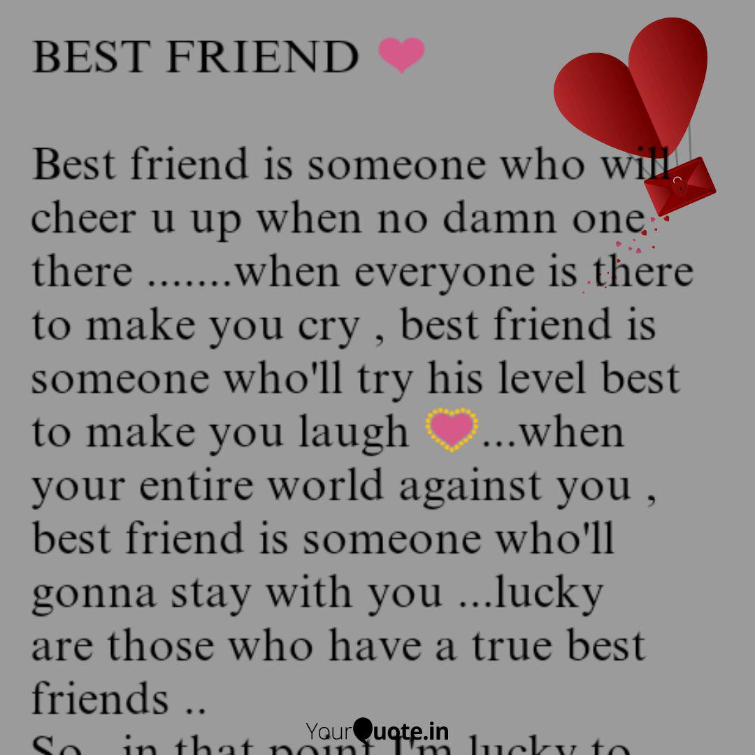 BEST FRIEND ❤ Best frien... | Quotes & Writings by Sonali ...