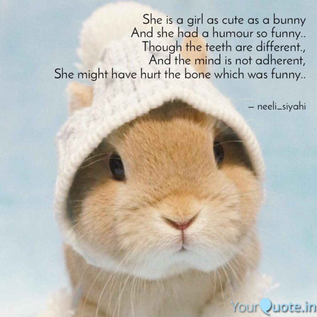 She is a girl as cute as ... | Quotes & Writings by Vishakha ...