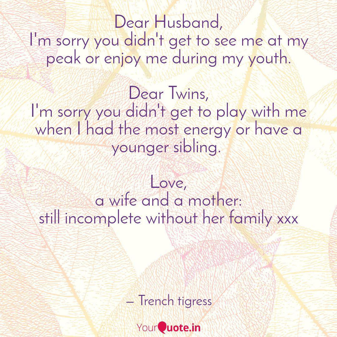 dear husband i m sorry y quotes writings by shimi k