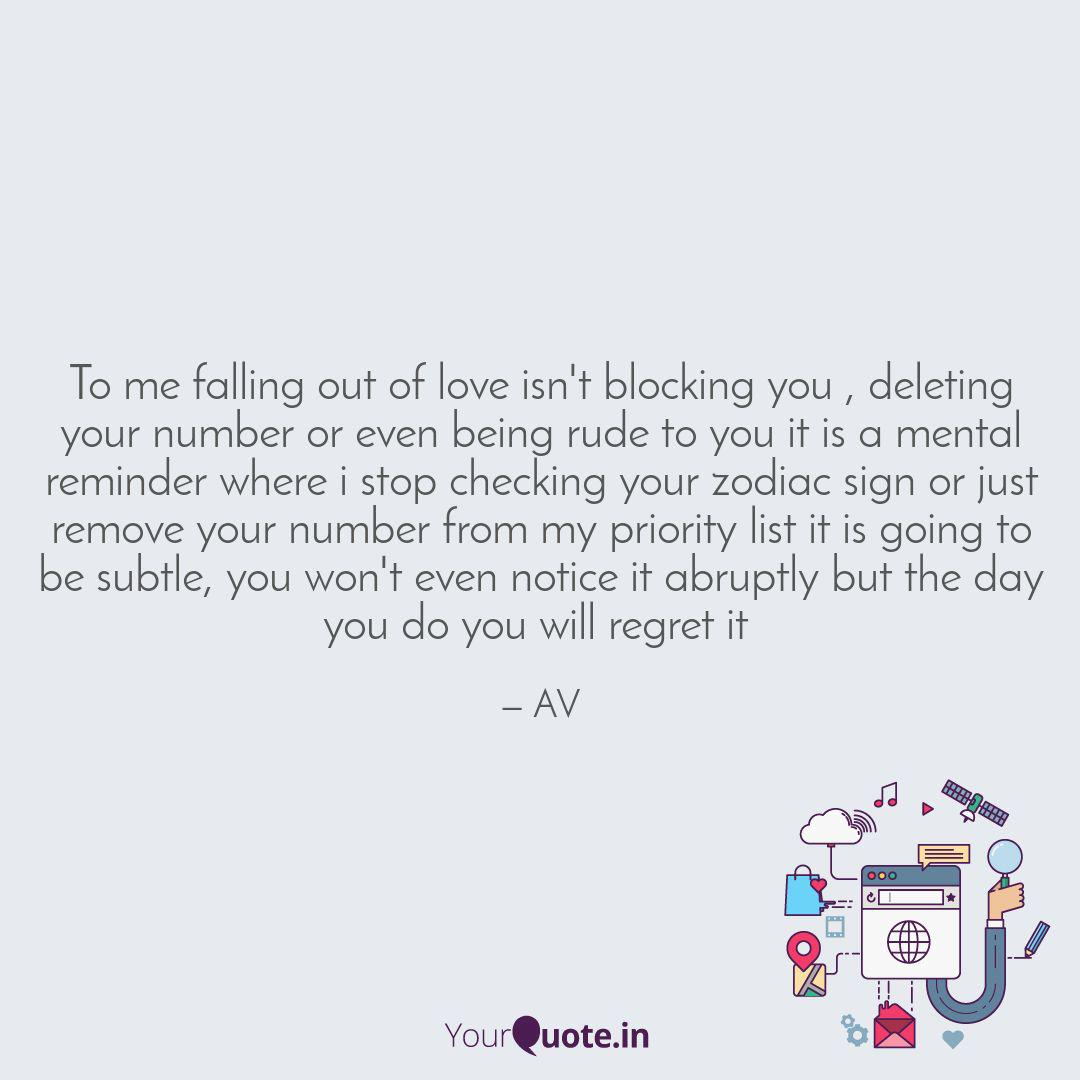 To me falling out of love... | Quotes & Writings by AKSHAYA ...
