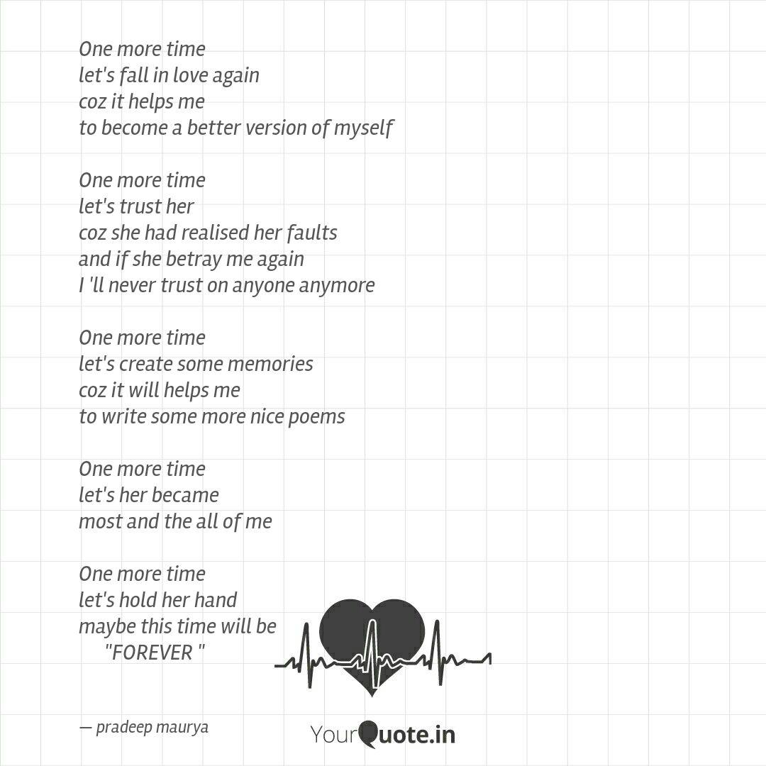 One more time let's fall     | Quotes & Writings by ©pradeep