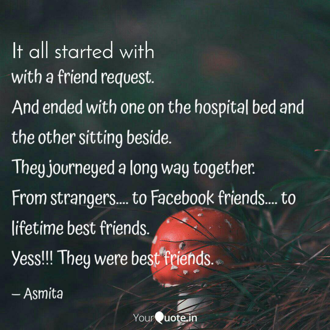 a friend request an quotes writings by asmita kar