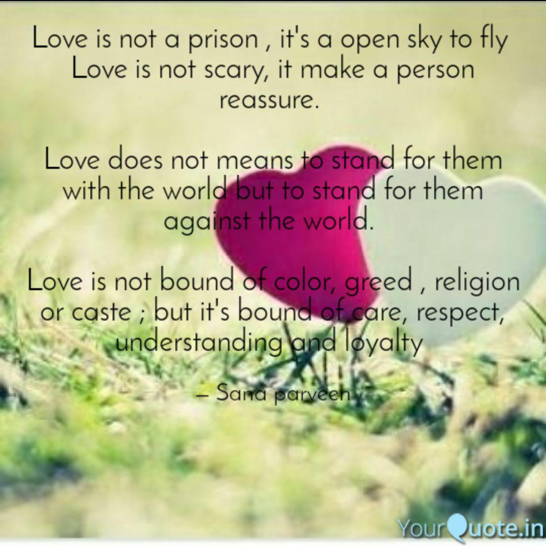 Love Is Not A Prison