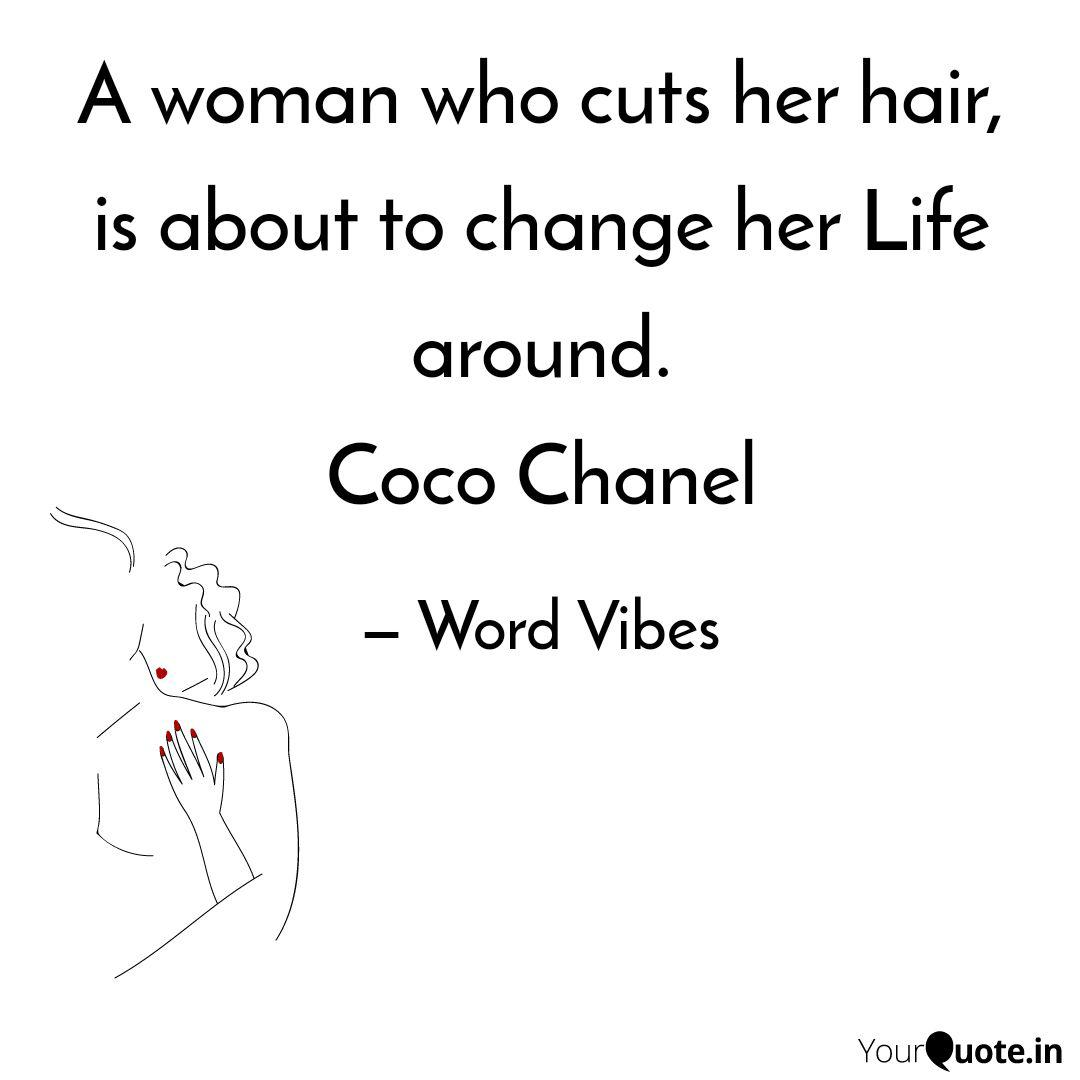 A woman who cuts her hair  Quotes & Writings by Word Vibes