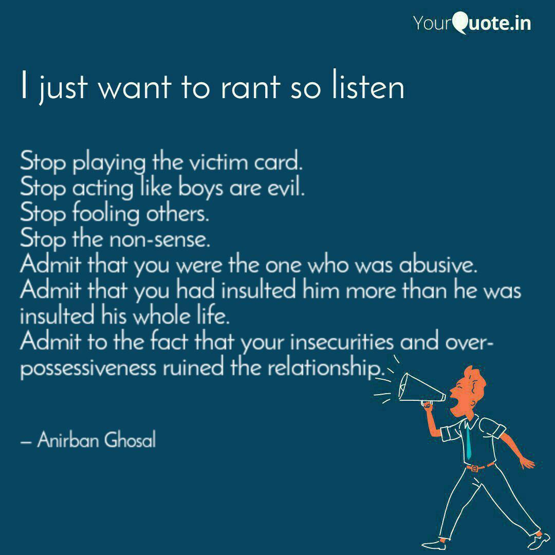 Stop playing the victim c... | Quotes & Writings by Anirban ...