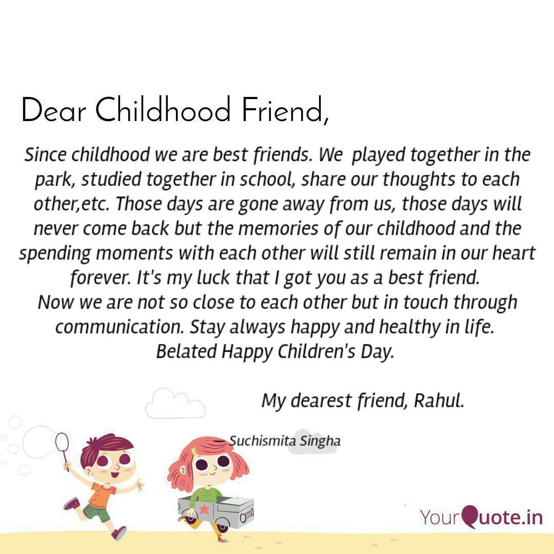 since childhood we are be quotes writings by suchismita
