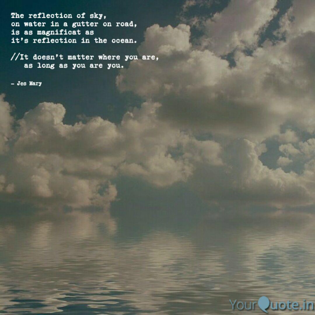 the reflection of sky o quotes writings by jesmary johnson
