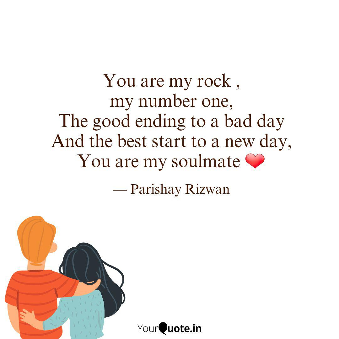 You are my rock , my numb... | Quotes & Writings by Parishay ...