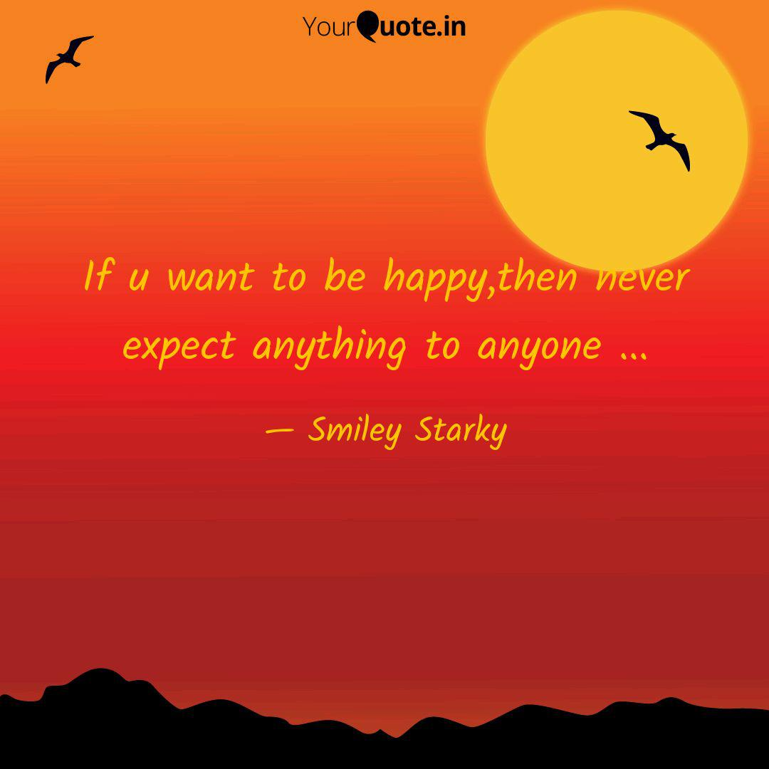 never expect anything from anyone status
