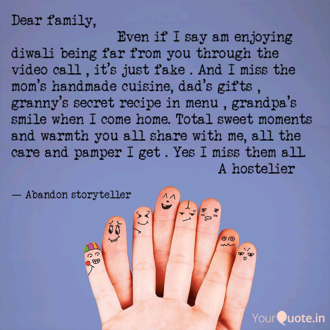 Dear Family Quotes Writings By Abandon Storyteller Yourquote