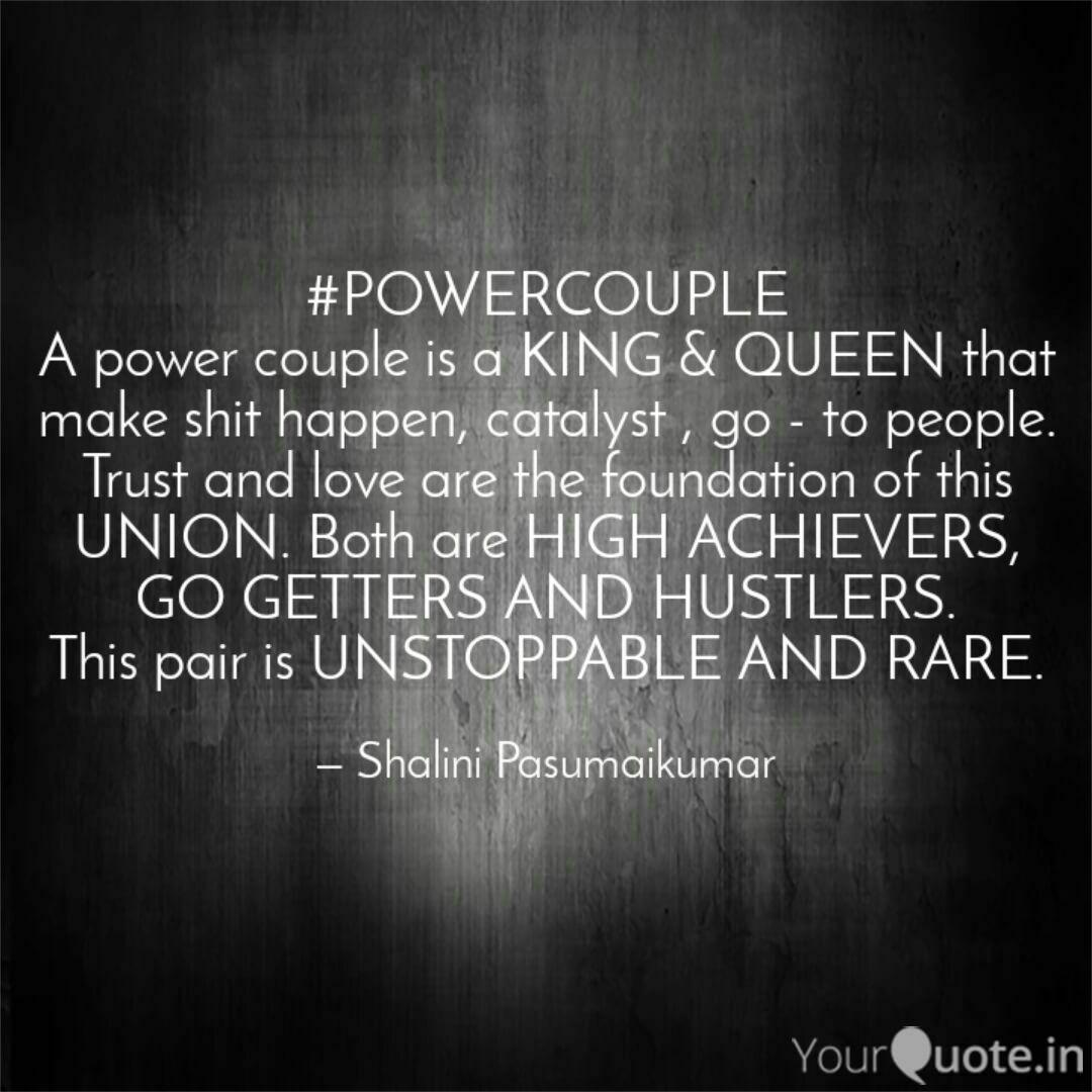 POWERCOUPLE A power coup... | Quotes & Writings by Shalini ...