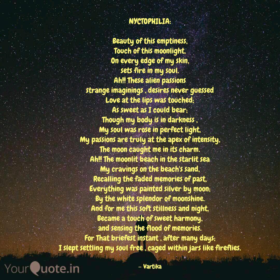 Nyctophilia Beauty Of T Quotes Writings By Vartika Gupta