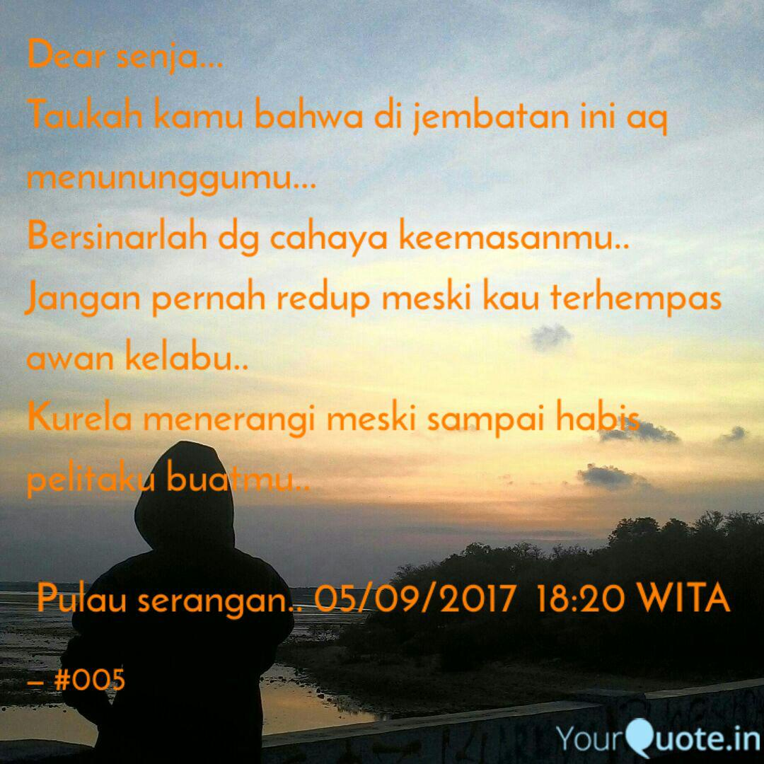 dear senja taukah kamu quotes writings by ari ariyanto
