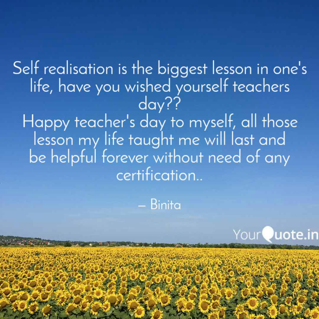 self realisation is the b quotes writings by binita