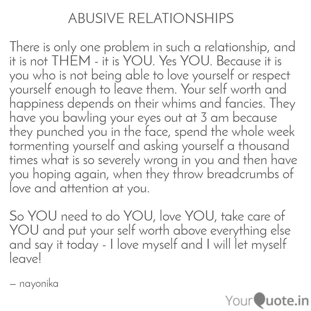 Of relationship an abusive getting about quotes out Quotes for