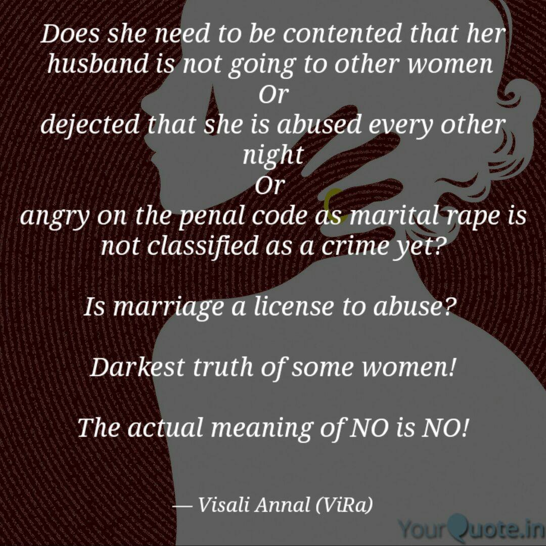 Annal Rape does she need to be conte | quotes & writingsvisali