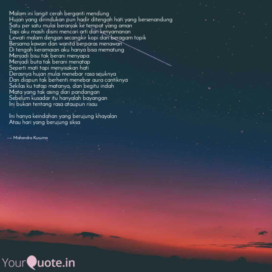 malam ini langit cerah be quotes writings by mahendra