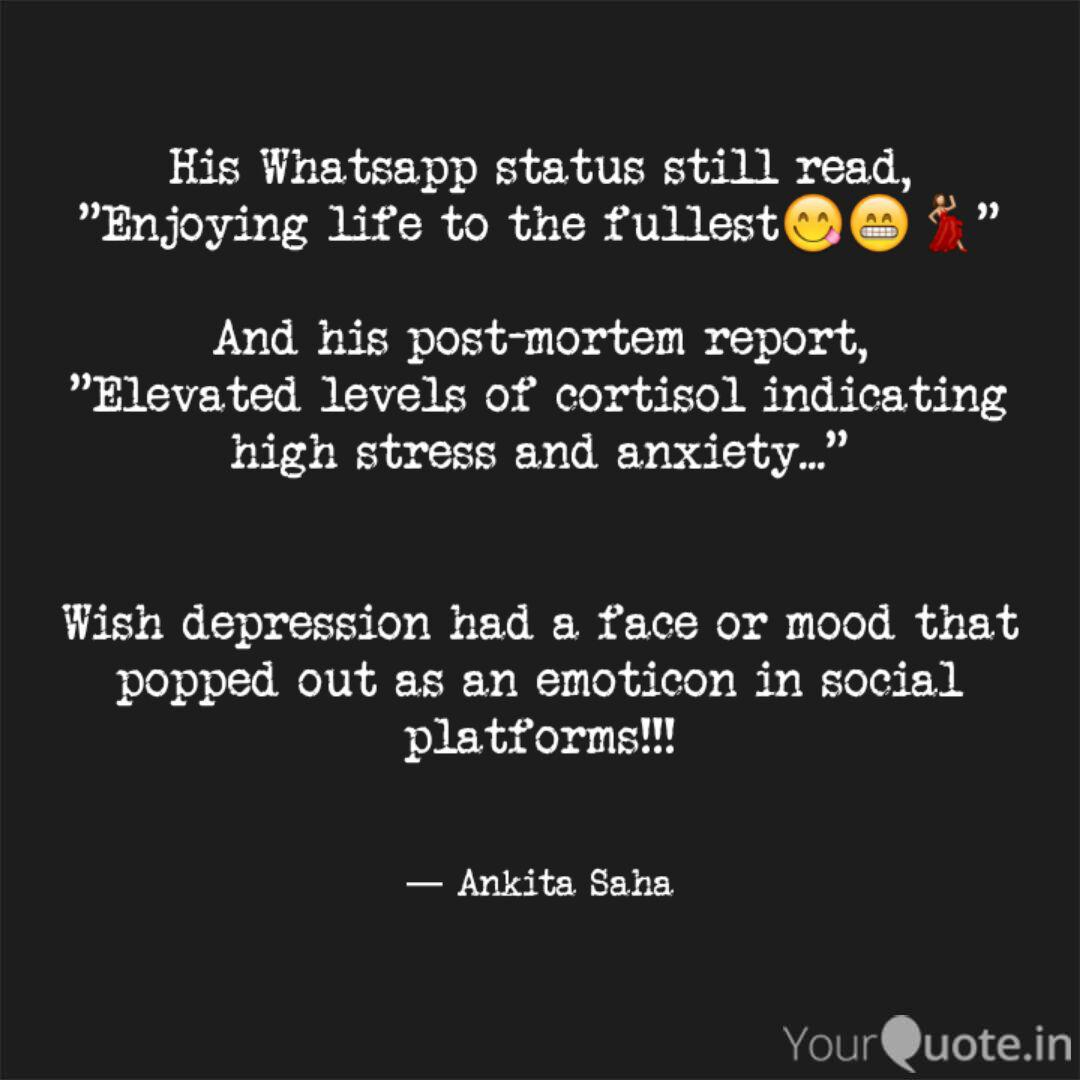 His Whatsapp Status Still Quotes Writings By Ankita