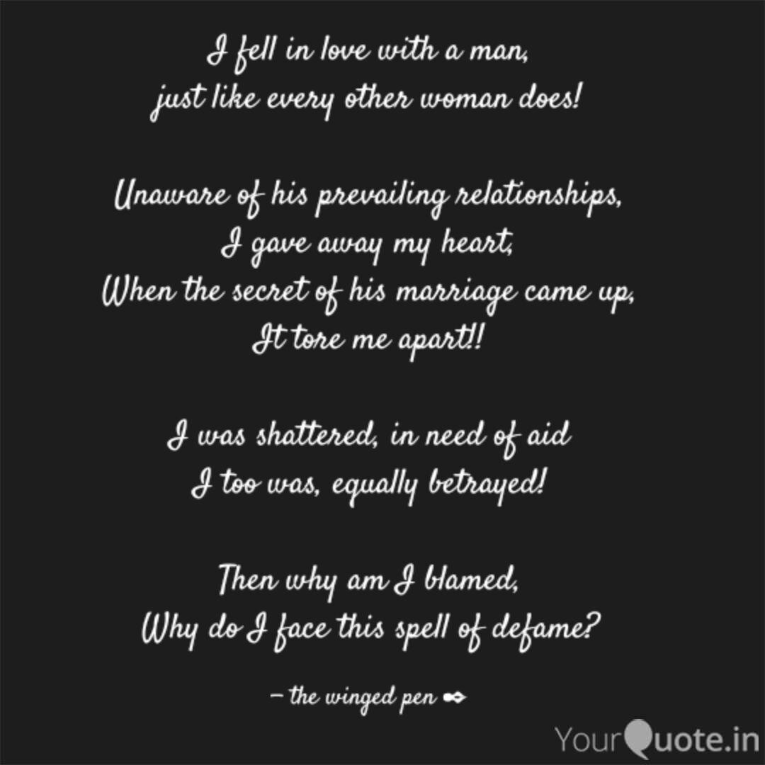I fell in love with a man...   Quotes & Writings by Cheshta ...