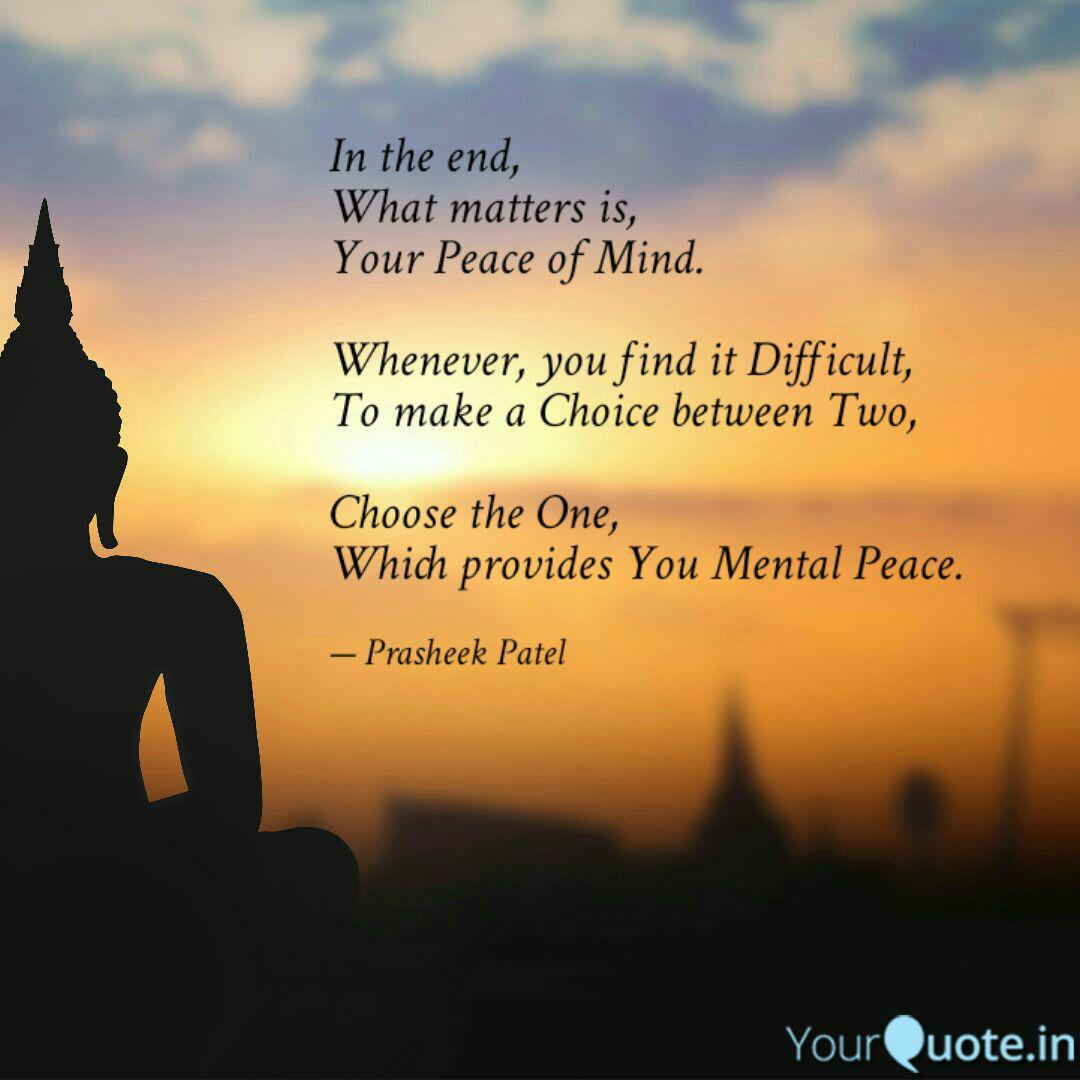 In The End What Matters Quotes Writings By Prasheek Patel Yourquote
