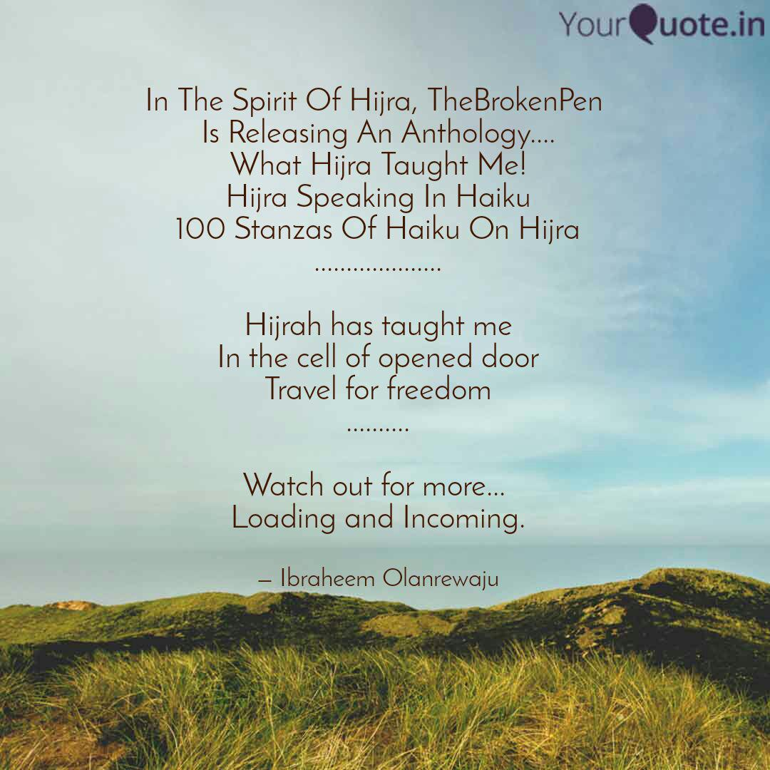 in the spirit of hijra t quotes writings by ibraheem