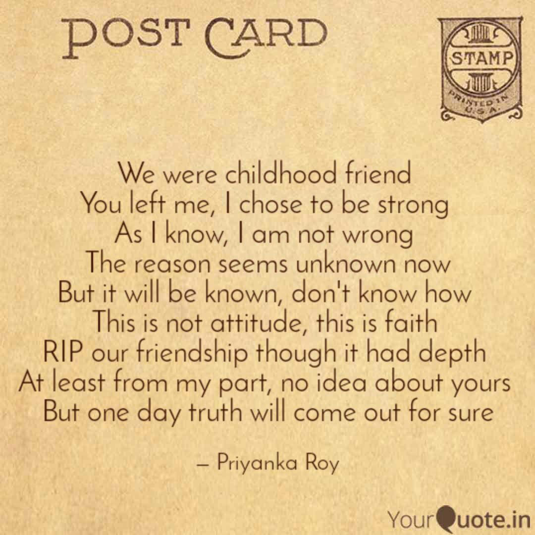 we were childhood friend quotes writings by priyanka roy